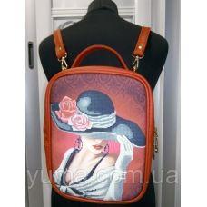 М1С7 (цвет) Сумка-рюкзак для вышивки бисером. ТМ ЮМА