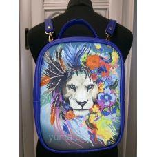 М1С19 (цвет) Сумка-рюкзак для вышивки бисером. ТМ ЮМА