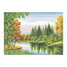 10-221 (40*60) Осенняя палитра. Схема для вышивки бисером Бисерок