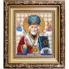Б-1120 Икона святителя Николая Чудотворца. Набор для вышивки бисером Чаривна Мить