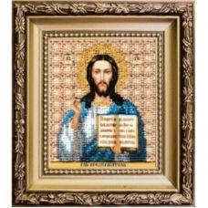 Б-1173 Икона Господа Иисуса Христа. Набор для вышивки бисером Чаривна Мить