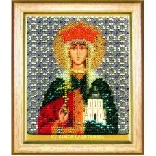 Б-1181 Икона св. благоверной царицы Тамары. Набор для вышивки бисером Чаривна Мить