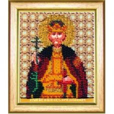 Б-1184 Икона св. благоверного великого князя Георгия (Юрия). Набор для вышивки бисером Чаривна Мить