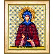 Б-1187 Икона св. преподобной Апполинарии. Набор для вышивки бисером Чаривна Мить