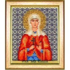 Б-1189 Икона св. мученицы Клавдии. Набор для вышивки бисером Чаривна Мить