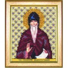 Б-1192 Икона св. преподобного Симеона. Набор для вышивки бисером Чаривна Мить