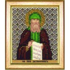 Б-1195 Икона преподобного Иоанна затворника Святогорского. Набор для вышивки бисером Чаривна Мить