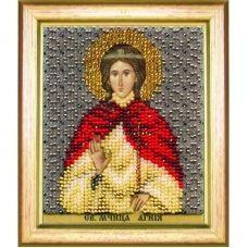 Б-1198 Икона св. мученицы Агнии. Набор для вышивки бисером Чаривна Мить