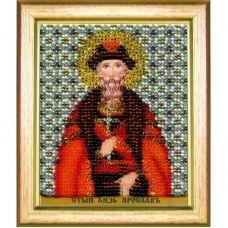 Б-1199 Икона св. благоверного князя Ярослава Мудрого. Набор для вышивки бисером Чаривна Мить