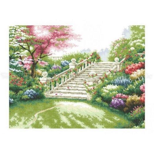 10-203 (40*60) Цветущий сад. Схема для вышивки бисером Бисерок