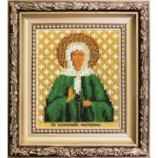 Б-1217 Икона святой блаженой Матроны Московской. Набор для вышивки бисером Чаривна Мить