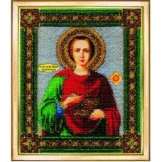 Б-1021 Икона великомученика и целителя Пантелеймона. Набор для вышивки бисером Чаривна Мить