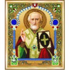 Б-1206 Икона святителя Николая Чудотворца. Набор для вышивки бисером Чаривна Мить