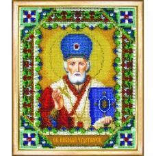 Б-1209 Икона Николая Чудотворца. Набор для вышивки бисером Чаривна Мить