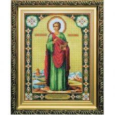 Б-1018 Икона великомученика и целителя Пантелеймона. Набор для вышивки бисером Чаривна Мить