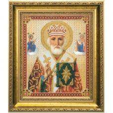 Б-1019 Икона Святителя Николая Чудотворца. Набор для вышивки бисером Чаривна Мить