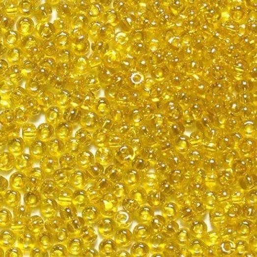 58582 Бисер Preciosa стеклянный жёлтый радужный с прокрасом