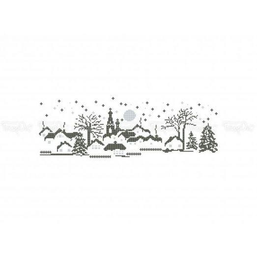 10-387 (30*40) Зимний вечер. Схема для вышивки бисером Бисерок