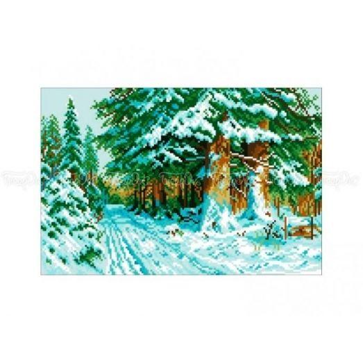 10-350 (30*40) Зимняя дорога. Схема для вышивки бисером Бисерок