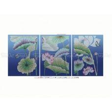 ЧМ-А2-034 Триптих Летние цветы. Схема для вышивки бисером Бисерок