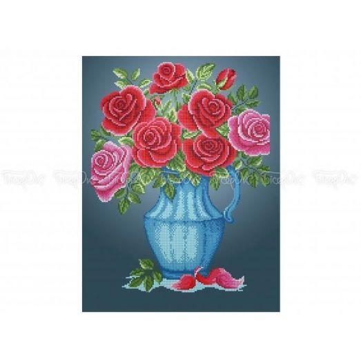 30-332 (30*40) Розы. Схема для вышивки бисером Бисерок