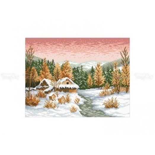 10-332 (30*40) Домик в лесу. Схема для вышивки бисером Бисерок
