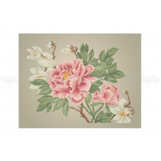30-366 (30*40) Розовые бутоны. Схема для вышивки бисером. Бисерок