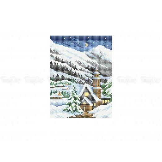 10-406 (20*25) Зимняя ночь. Схема для вышивки бисером Бисерок