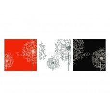 ЧМ-А2-031 Триптих Одуванчики. Схема для вышивки бисером. Бисерок