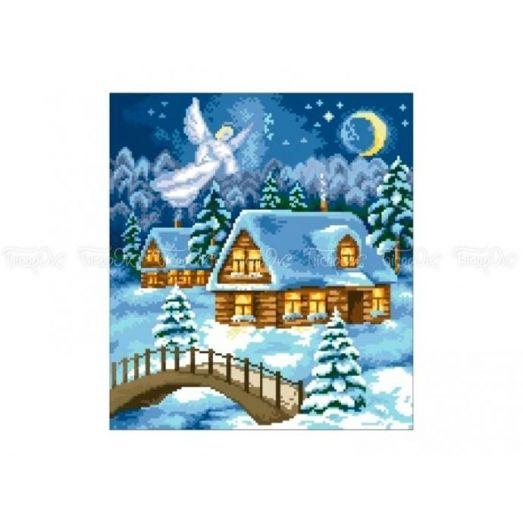 10-363 (30*40) Рождественский Ангел. Схема для вышивки бисером Бисерок