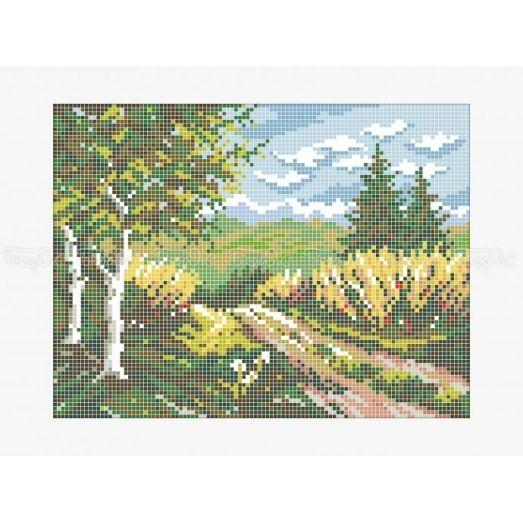 10-415 (20*25) Сельская дорога. Схема для вышивки бисером Бисерок