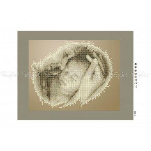 40-323 (30*40) Мать и дитя (сепия). Схема для вышивки бисером Бисерок