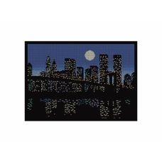 10-394 (30*40) Ночной город. Схема для вышивки бисером. Бисерок