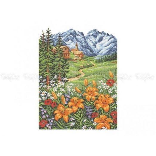 10-201 (40*60) Дикие лилии. Схема для вышивки бисером Бисерок
