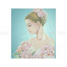 40-215 (40*60) Невеста. Схема для вышивки бисером. Бисерок