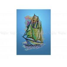 60-400 (20*25) Корабль. Схема для вышивки бисером Бисерок