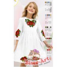 ВА-1601 Заготовка детского платья под вышивку БисерАрт