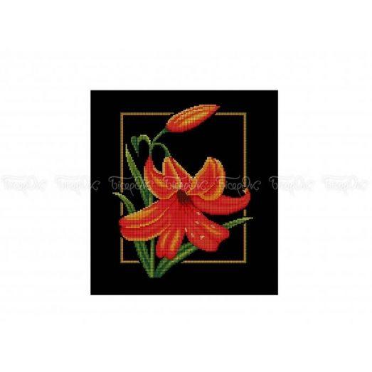 30-315 (30*40) Огненная Лилия. Схема для вышивки бисером Бисерок