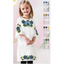 ВА-1602 Заготовка детского платья под вышивку БисерАрт