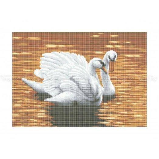 70-317 (30*40) Лебеди. Схема для вышивки бисером Бисерок