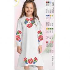 ВА-1607 Заготовка детского платья под вышивку БисерАрт