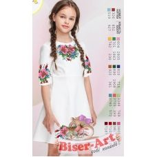 ВА-1609 Заготовка детского платья под вышивку БисерАрт