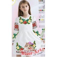 ВА-16101 Заготовка детского платья под вышивку БисерАрт
