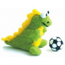 В-001 Дракон-футболист. Набор для валяния ТМ Чаривна Мить