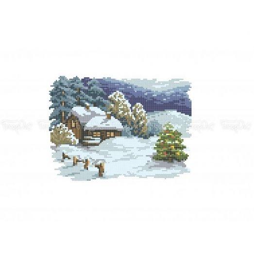 10-407 (20*25) Новогодняя ночь. Схема для вышивки бисером Бисерок
