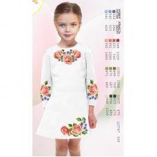ВА-1614 Заготовка детского платья под вышивку БисерАрт