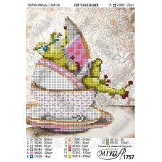 МИКА-1757 (А5) Лягушенция. Схема для вышивки бисером
