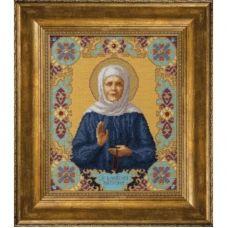 М-144 Икона Св. Блаженной Матроны Московской. Набор для вышивки счетным крестом Чаривна Мить