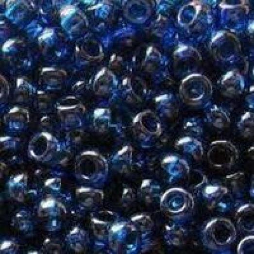 38438 Бисер Preciosa стеклянный с насыщенным тёмно-синим прокрасом