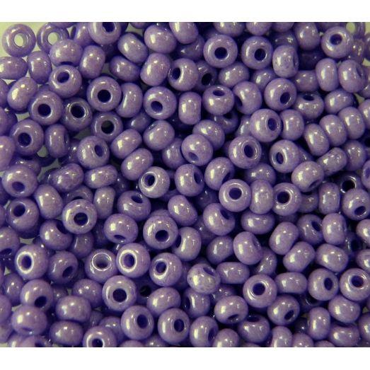 16328 Бисер непрозрачный фиолетовый глянцевый